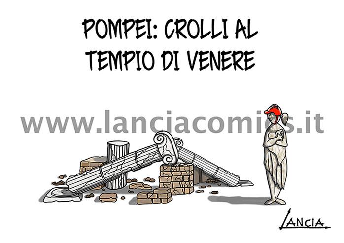 Crolla il tempio di Venere