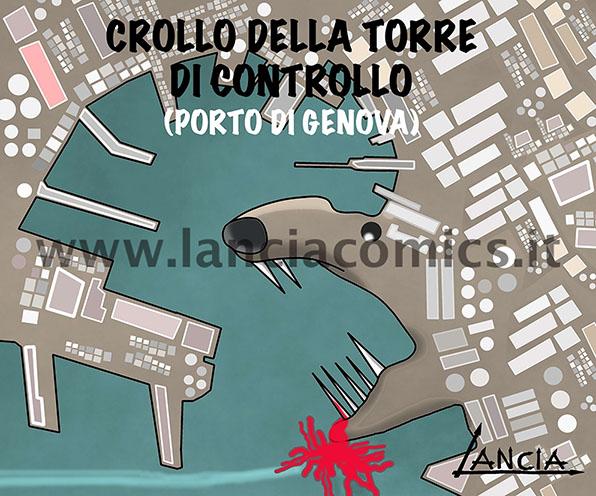 Crollo nel porto di Genova