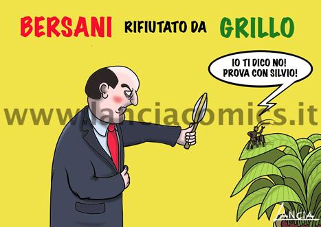 Grillo rifiuta Bersani