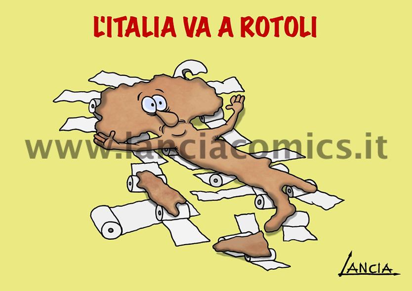 Italia va a rotoli