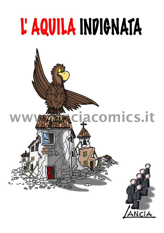 L'Aquila indignata