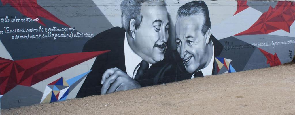 Murales Falcone e Borsellino
