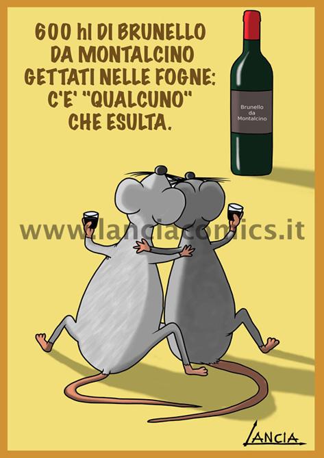 Topi con vino Brunello