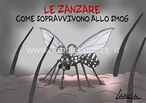 Zanzare e smog